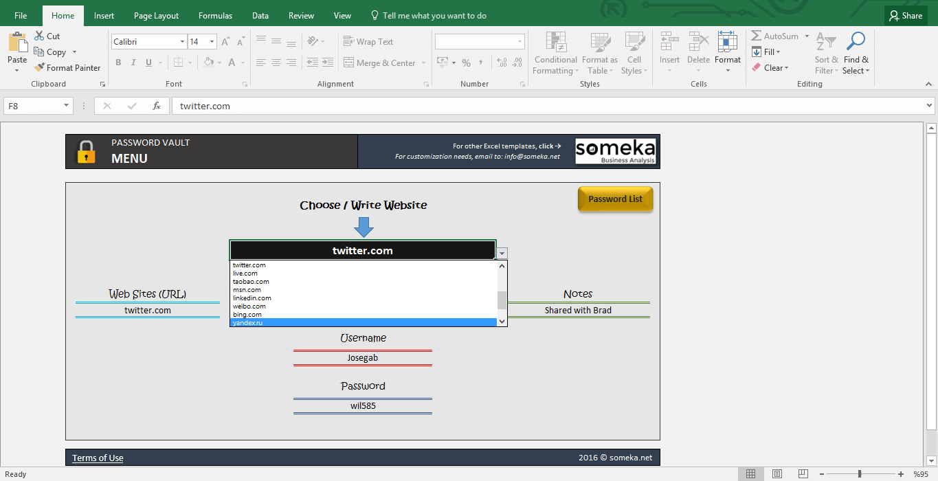 Password Keeper   Free Password List Template In Excel Throughout Microsoft Spreadsheet Template