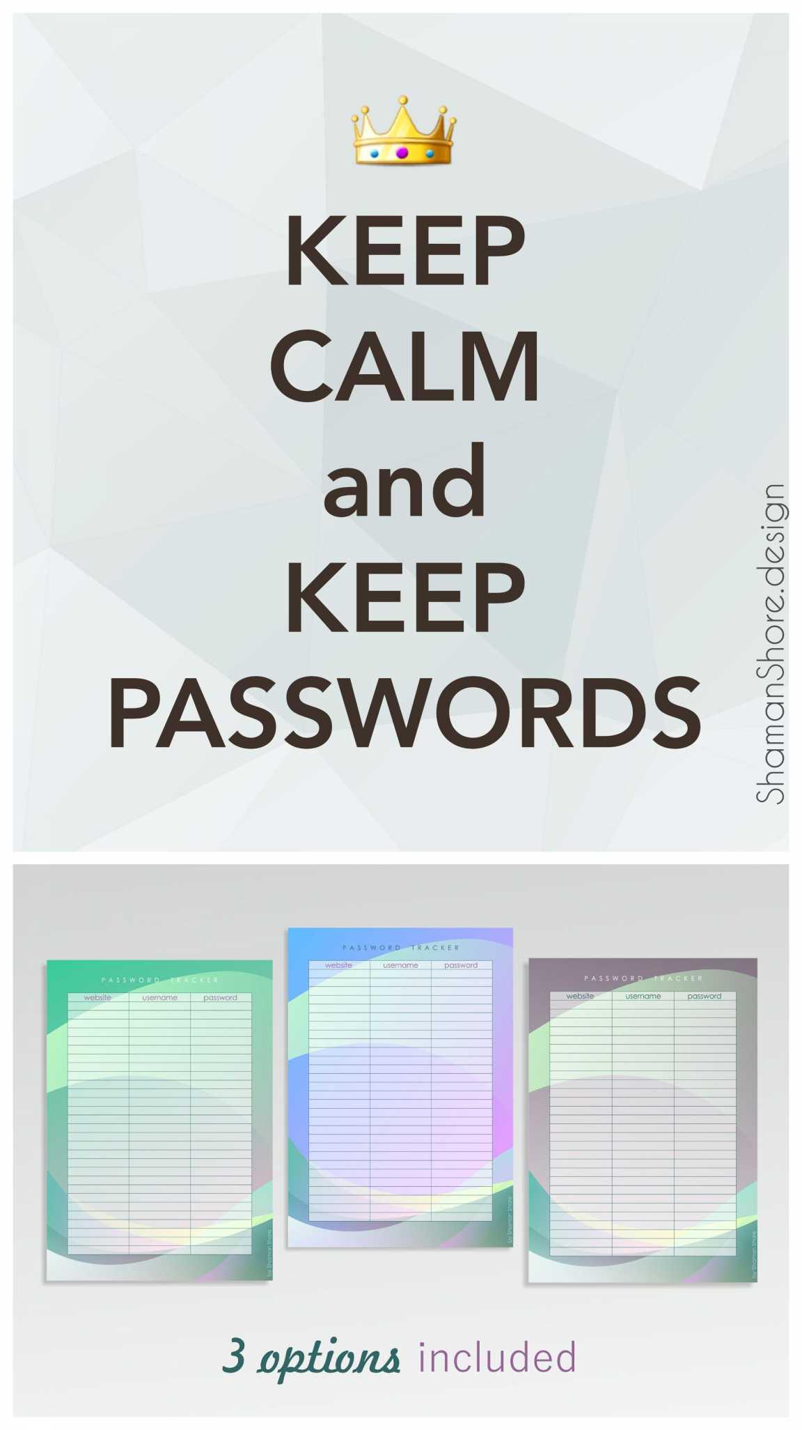 Password Organizer Template Shshprintables Password Keeper Inside Free Printable Password Keeper