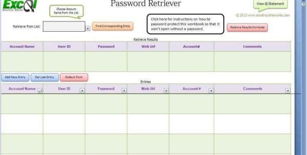 Password Spreadsheet Template Spreadsheet Templates For … – Bulat Inside Password Spreadsheet Template
