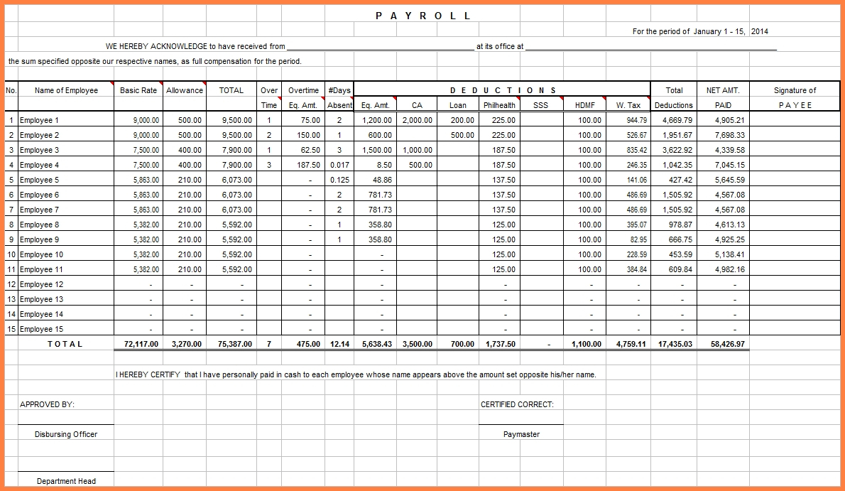 Payroll Spreadsheet For Small Business On Budget Spreadsheet Excel Inside Payroll Spreadsheet
