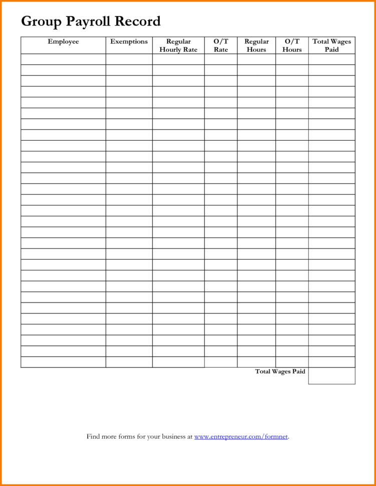 Payroll Templates Free Template Examples Intended For Free Payroll Intended For Free Payroll Sheet Template