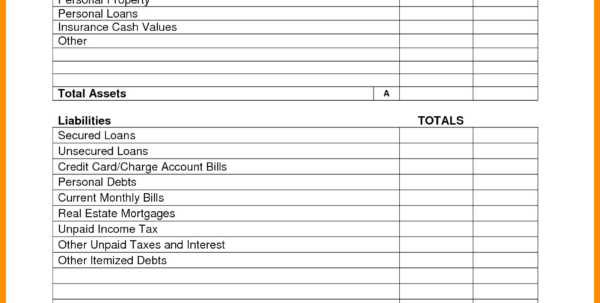 Personal Balance Sheet Example 6   Band Ible Within Personal Balance Sheet Template
