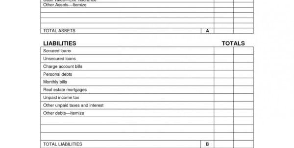 Personal Balance Sheet Template Paper Assets Gorgeous List Of For Personal Balance Sheet Template