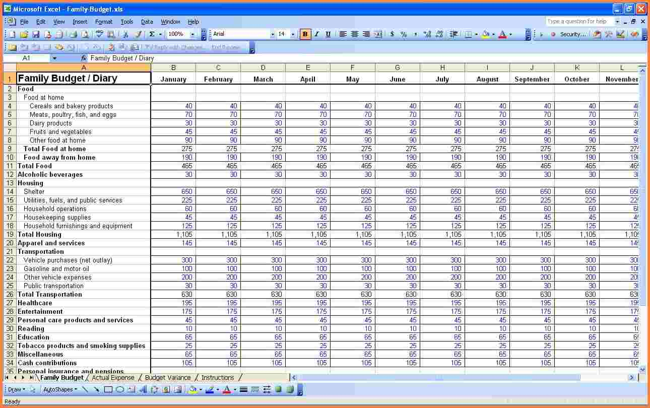 Personal Budget Spreadsheet Excel Spreadsheets Group 2017 Personal Intended For Personal Budget Spreadsheet