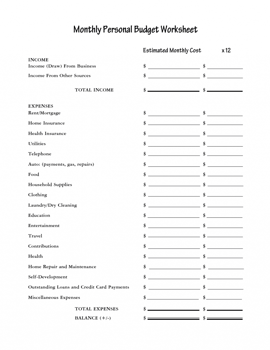 Personal Budget Spreadsheet Sample Template Printable Uk Reddit To Sample Personal Budget Spreadsheet