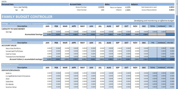 Personal Budget   Wikipedia To Personal Monthly Cash Flow Statement Template Excel