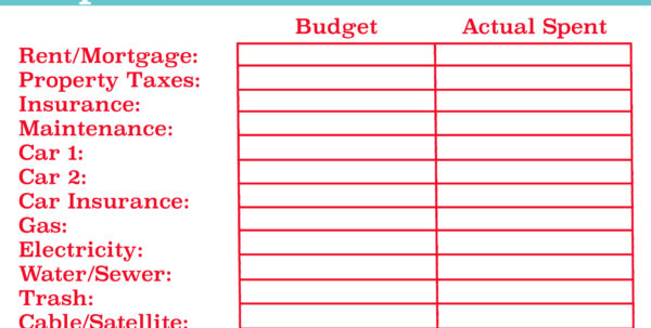 Personal Finance Budget Template   Resourcesaver In Personal Budget Finance