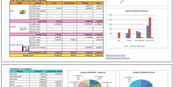 Personal Finance Spreadsheet Template Unique Elegant Program Design Within Household Bookkeeping Template