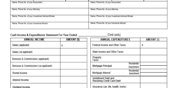 Personal Financial Statement Template Excel | Template Ideas Within Personal Finance Templates Excel