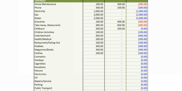Personal Income Statement Template Excel | Worksheet & Spreadsheet And Personal Finance Spreadsheet Templates Excel