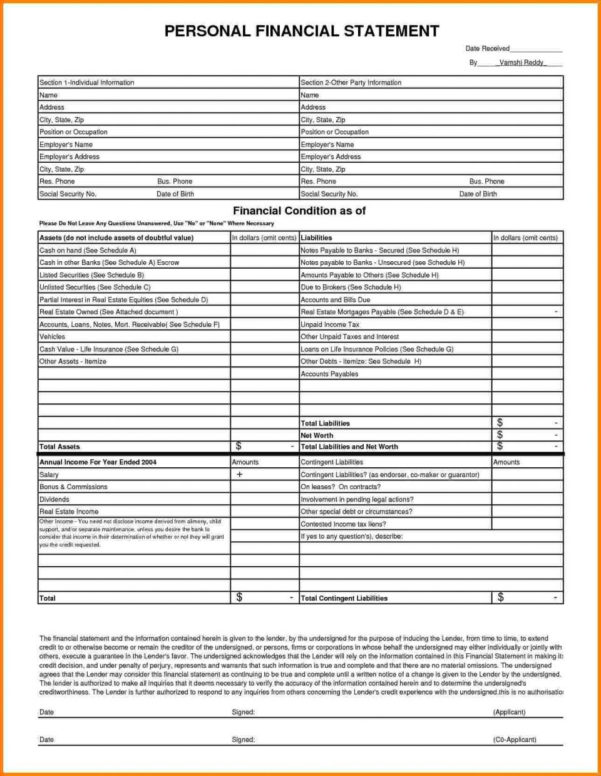 Personal Income Statement Template Word Profit And Loss Form In Income Statement Template Word