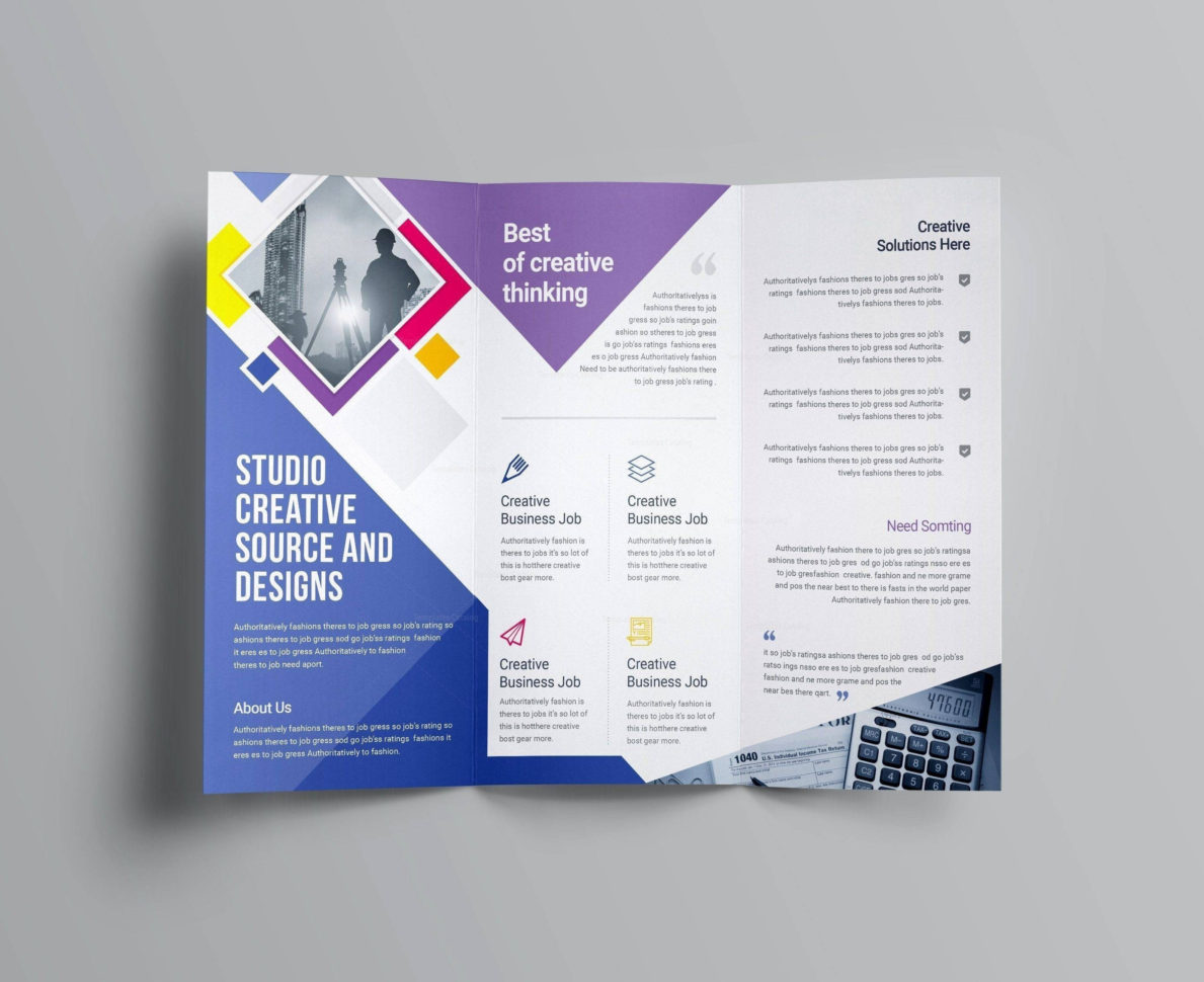 Photoshop Brochure Template Free   Brochure Templates Free Download With Bookkeeping Flyer Template Free