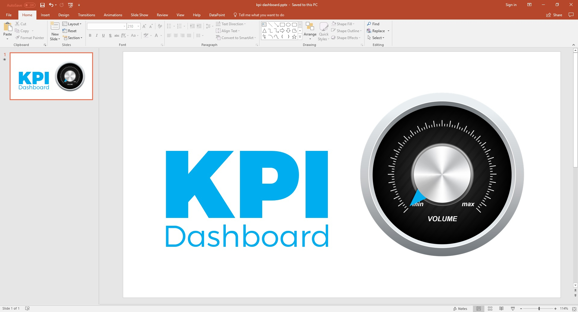 Powerpoint Dashboard   How To Add Gauges • Presentationpoint Intended For Excel Kpi Gauge Template