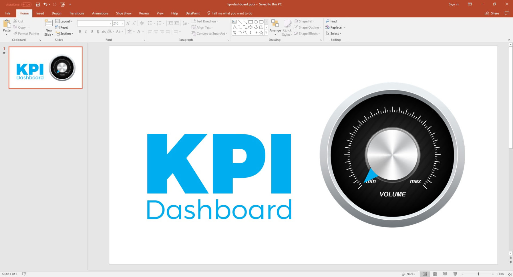 Powerpoint Dashboard   How To Add Gauges • Presentationpoint Throughout Free Excel Dashboard Gauges
