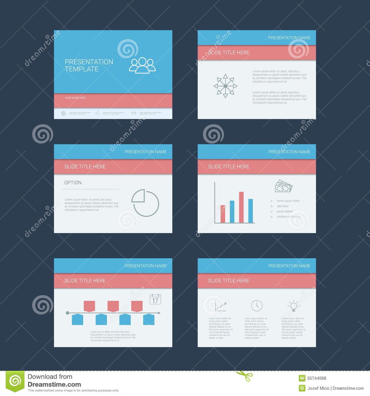 Presentation Slides Template. Infographics Stock Vector With Project Management Design Templates