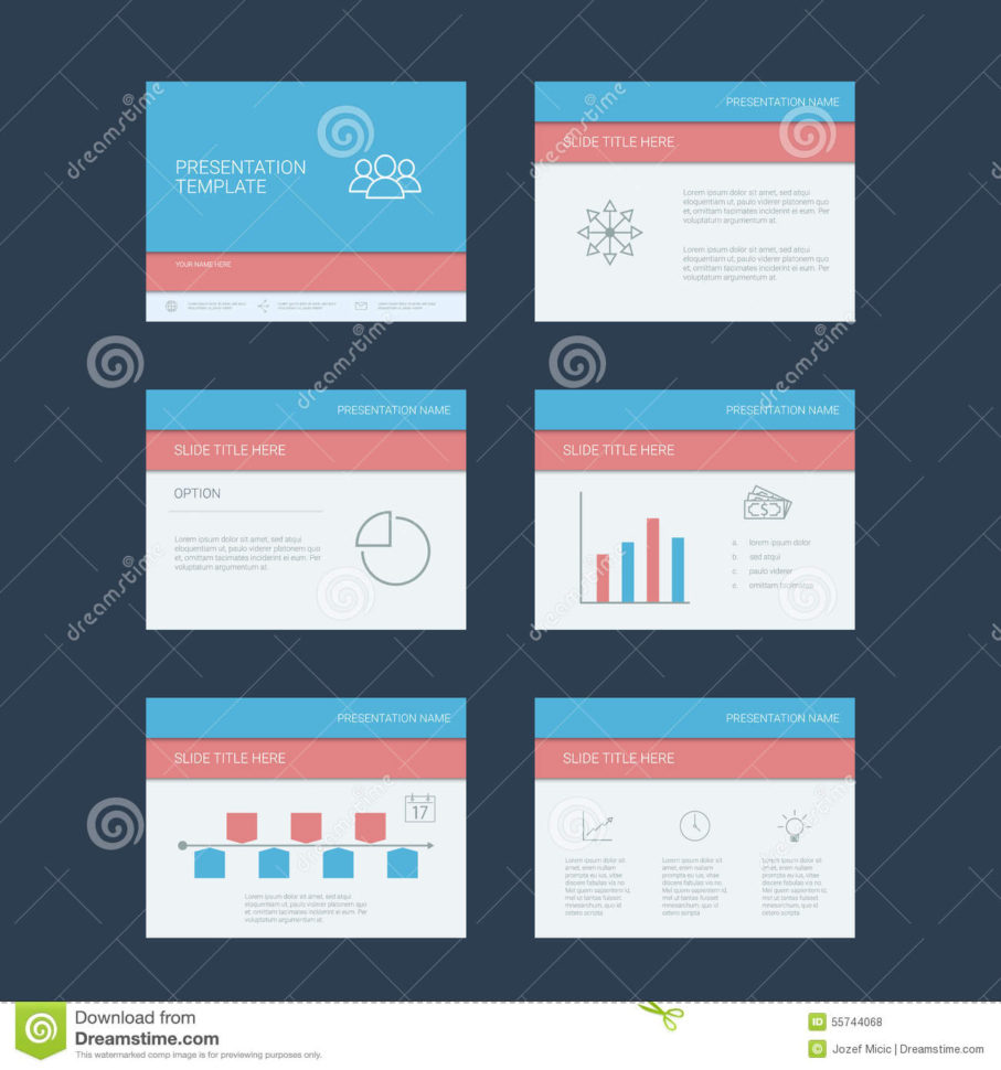 Presentation Slides Template. Infographics Stock Vector Within Project Management Presentation Templates