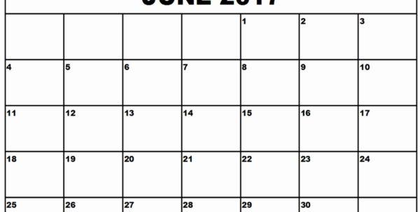 Printable Blank Calendar Template June 2017 Calendar Printable In Blank Worksheet Templates