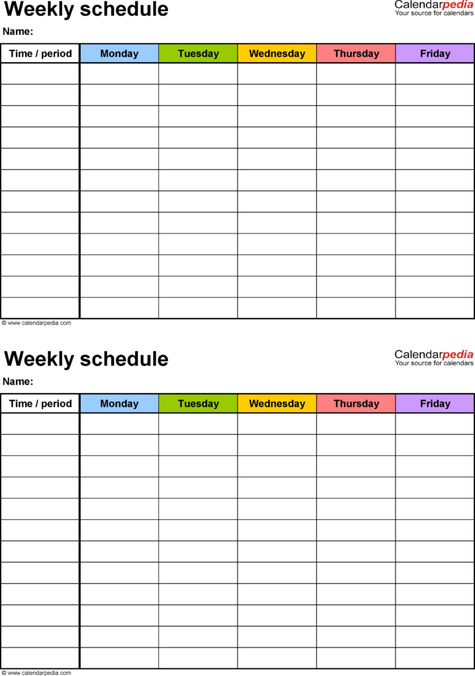 Printable Blank Weekly Employee Schedule – Template Calendar Design Throughout Printable Employee Schedule Templates