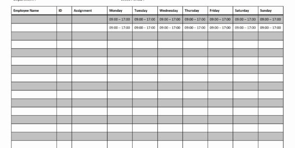 Printable Employee Work Schedule Template With Monthly Staff Schedule Template Free
