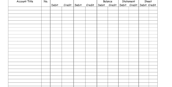 Printable Ledger Sheets Accounting   Kimo.9Terrains.co In Accounting Ledger Book Template Free