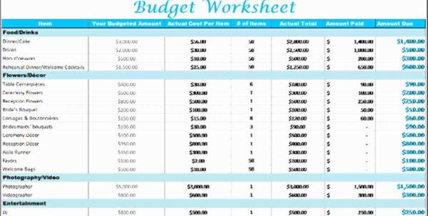 Printable Wedding Budget Spreadsheet Printable Wedding Bud Throughout Wedding Budget Spreadsheet