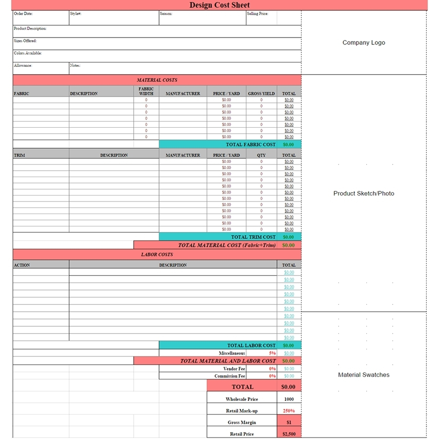 Product Cost Sheet In Excel Costing Spreadsheet Template Regarding And Cost Spreadsheet Template