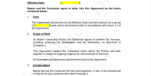 Professional Services Agreement Template Awesome Agencyagreement With Bookkeeping Contract Template Canada