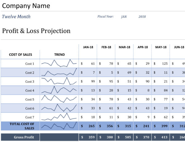 Profit And Loss   Office With Excel Profit And Loss Template