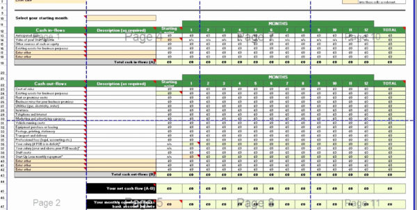 Profit And Loss Projection Template Excel Beautiful Free Cash Flow With Excel Profit And Loss Projection Template