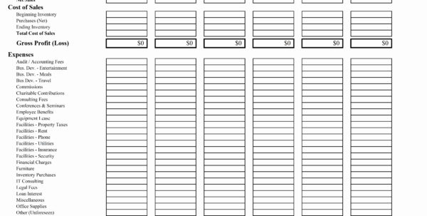 Profit And Loss Projection Template Excel | My Spreadsheet Templates Intended For Gross Profit Spreadsheet Template