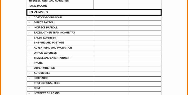 Profit And Loss Statement Excel Template New Profit And Loss Throughout Profit And Loss Spreadsheet Template