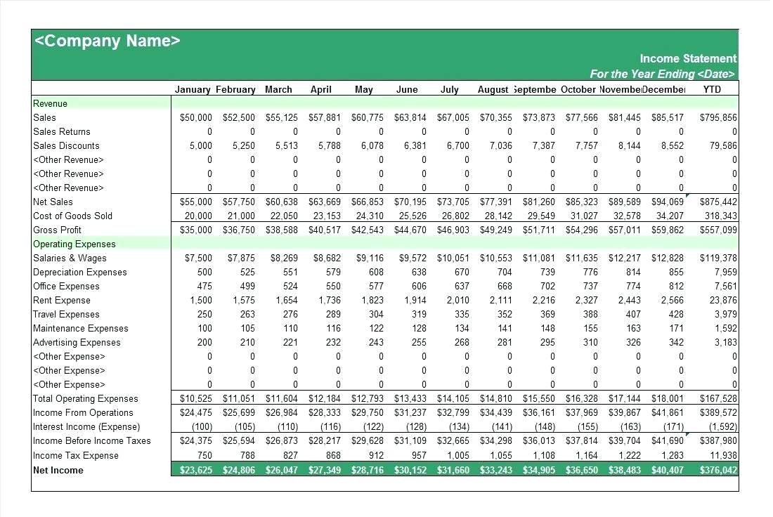 Sample Income Statement Format 8 Download Documents In