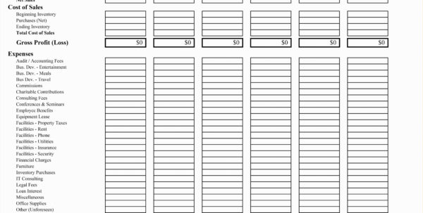 Profit And Loss Template For Restaurants | Worksheet & Spreadsheet With Restaurant Bookkeeping Templates