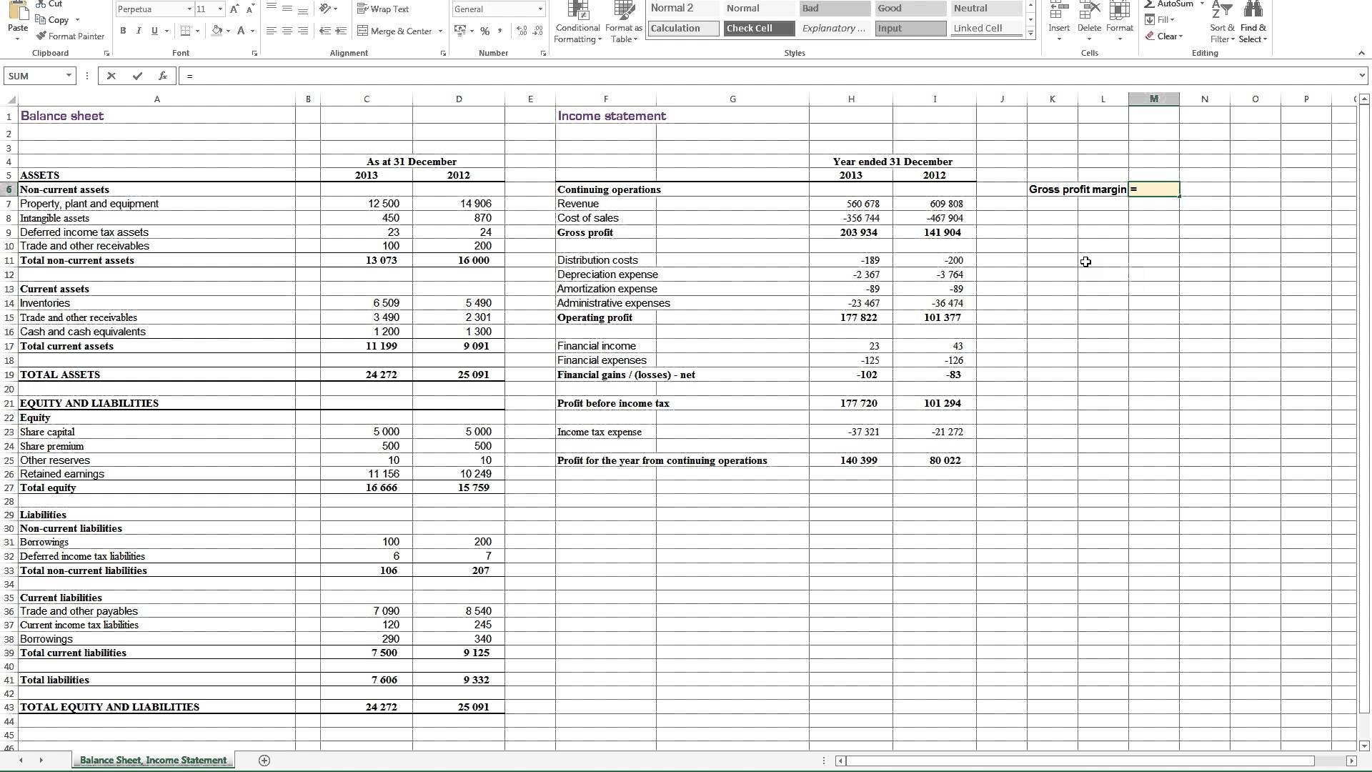 Profit Loss And Balance Sheet Projected Profit And Loss Template With Excel Profit And Loss Projection Template