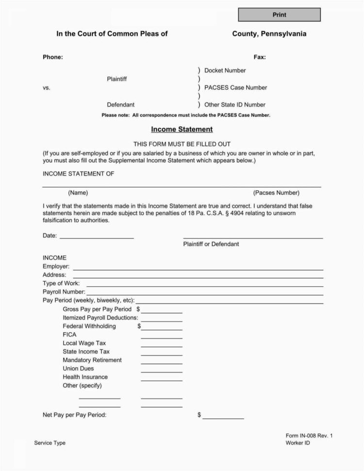 Profit Loss Statement For Self Employed | Worksheet & Spreadsheet 2018 Inside Profit And Loss Statement Template For Self Employed