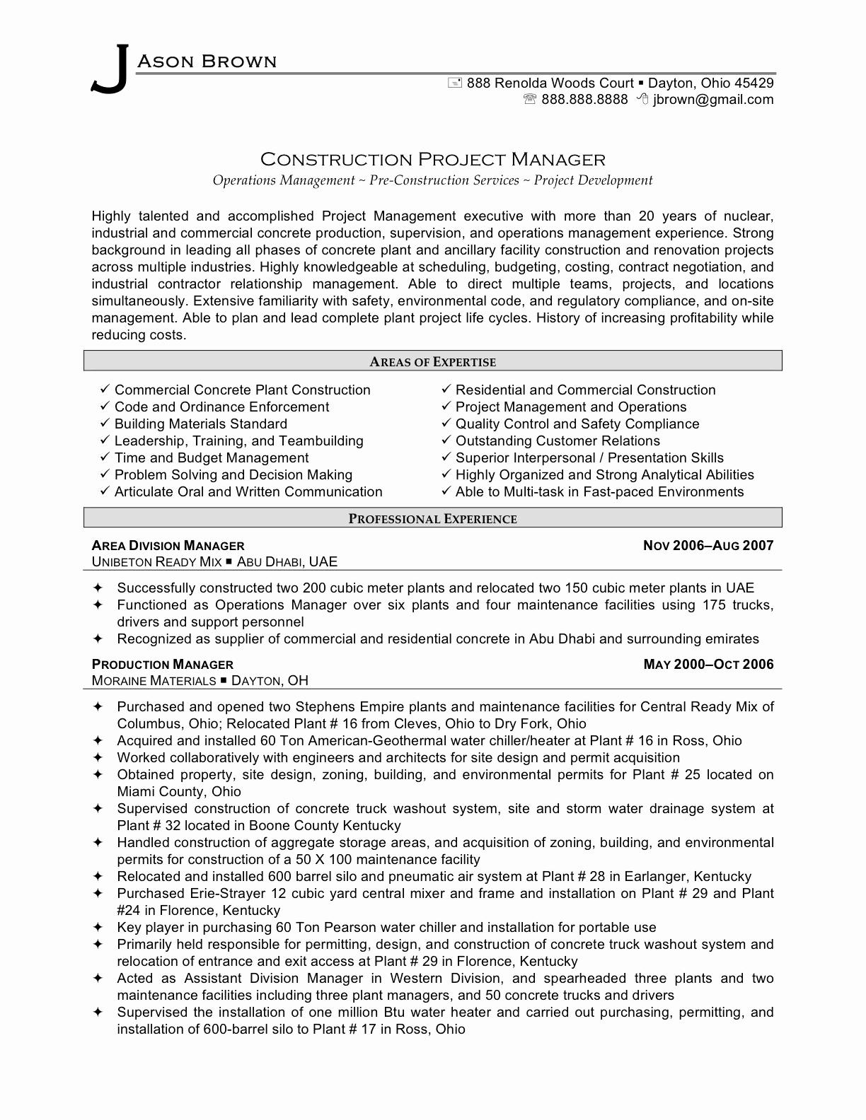 Project Coordinator Resume Samples Lovely Oil And Gas Resume With Project Management Resume Templates