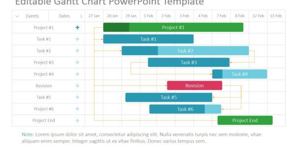 Project Gantt Chart Powerpoint Template   Slidemodel Inside Gantt Chart Template Mac