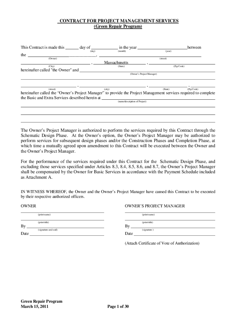 Project Management Agreement Template - 2 Free Templates In Pdf With Project Management Contracts Templates