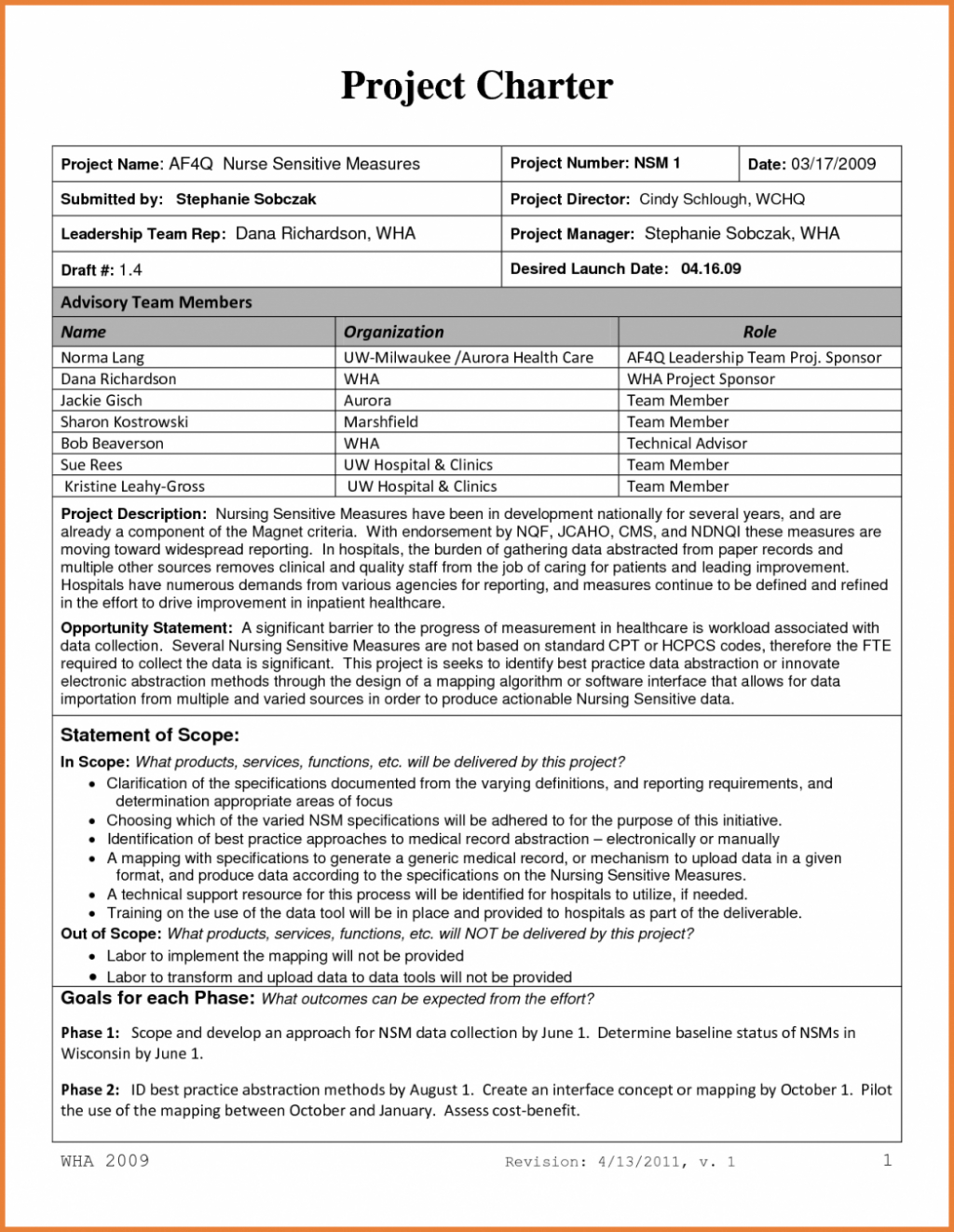 Project Management Charter Template Doc Archives Southbay Robot Pdf within Project Management Charter Templates