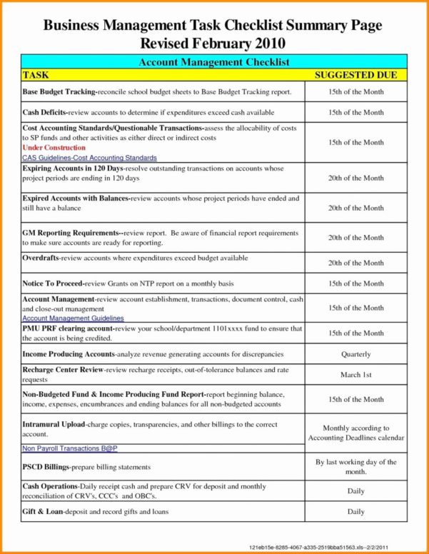 Project Management Checklist Excel Timesheet Template With Tasks Inside Project Management Checklists Templates