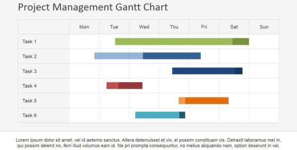 Project Management Gantt Chart Powerpoint Template Slidemodel Within And Gantt Chart Template Powerpoint Mac