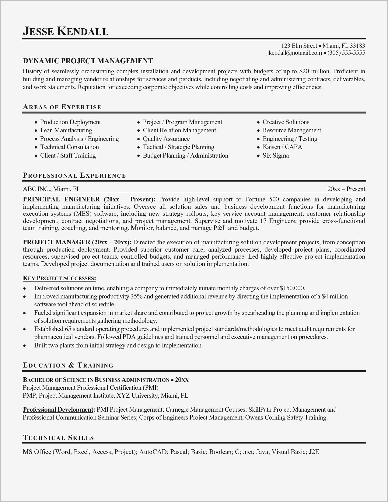 Project Management Resume Elegant Reference Marketing Resumes Intended For Project Management Templates Pdf