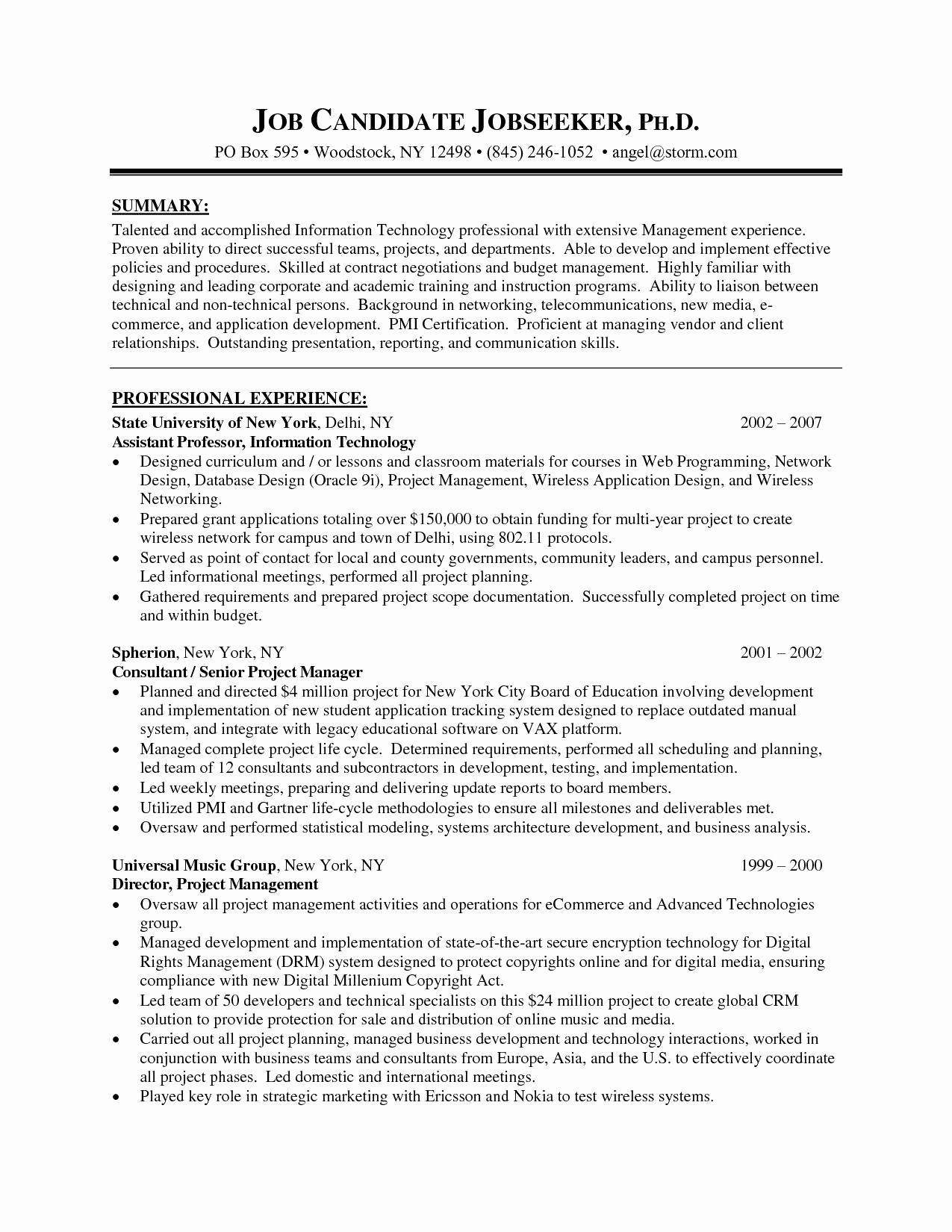 Project Management Resumes Best Of Project Manager Resume Template And Project Management Resume Templates