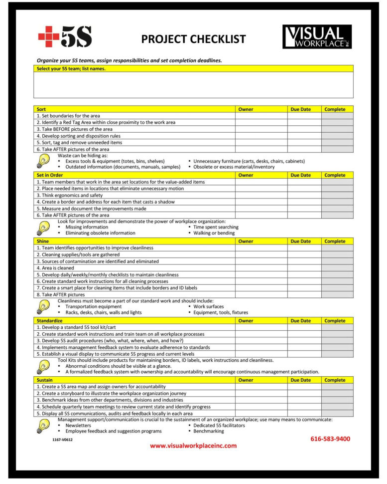 Project Management Templates Photo Gallery For Website Project With Project Management Checklists Templates