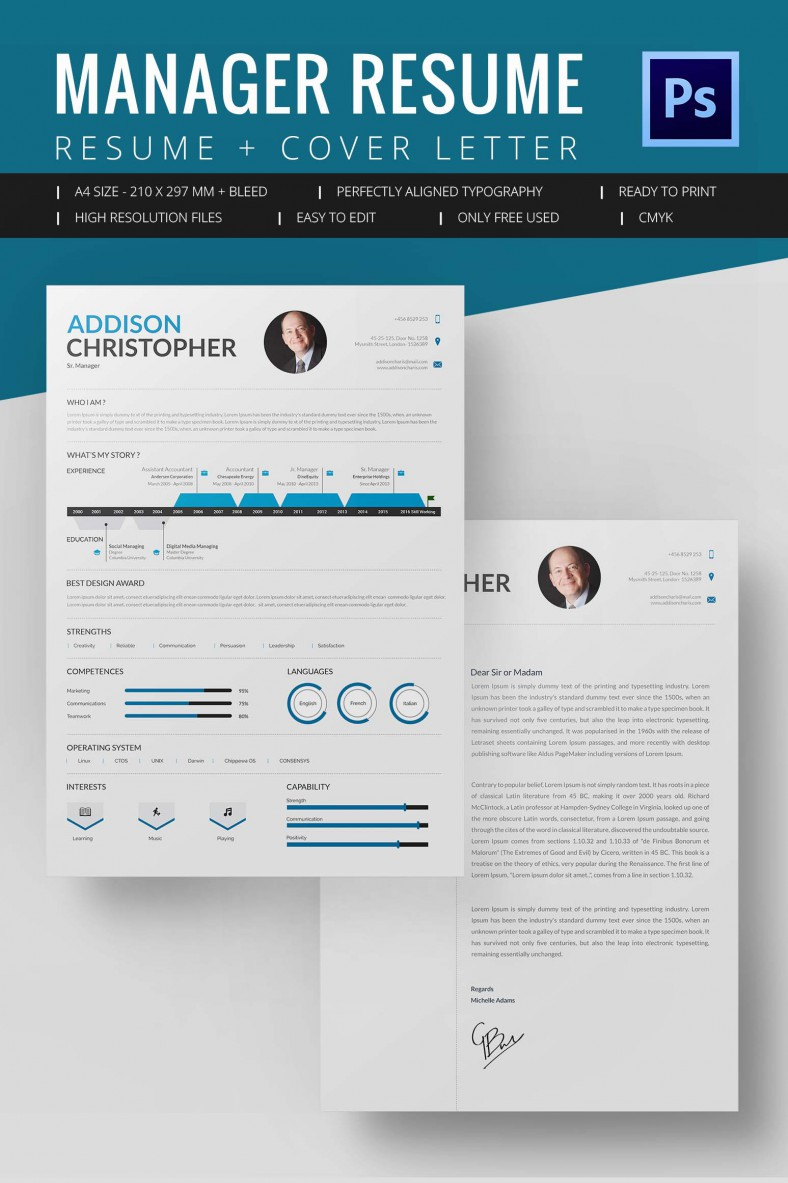 Project Manager Resume Template - 10+ Free Word, Excel, Pdf Format for Project Management Design Templates