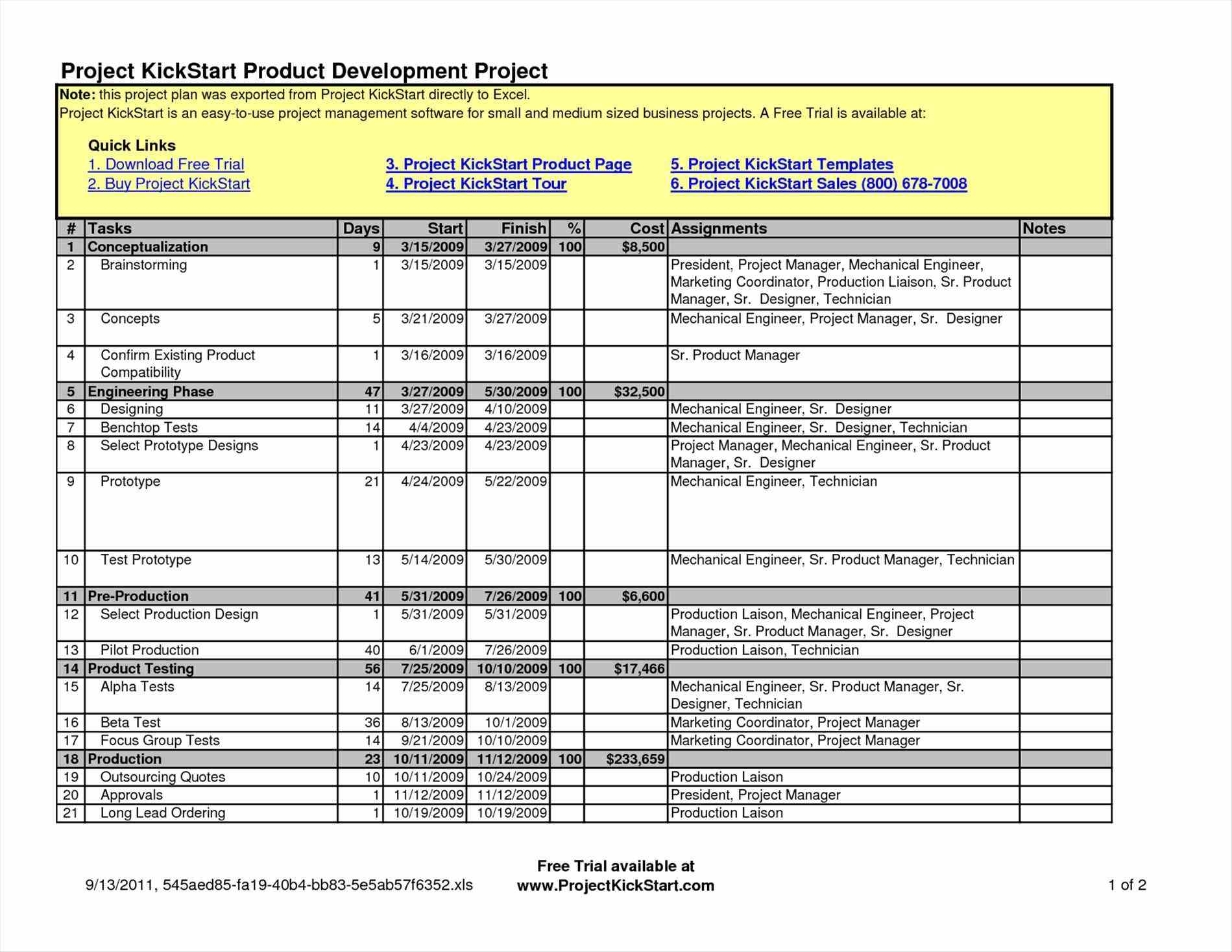 Project Plan Templates Free Eliolera And Project Management Forms Inside Project Management Forms Free Download