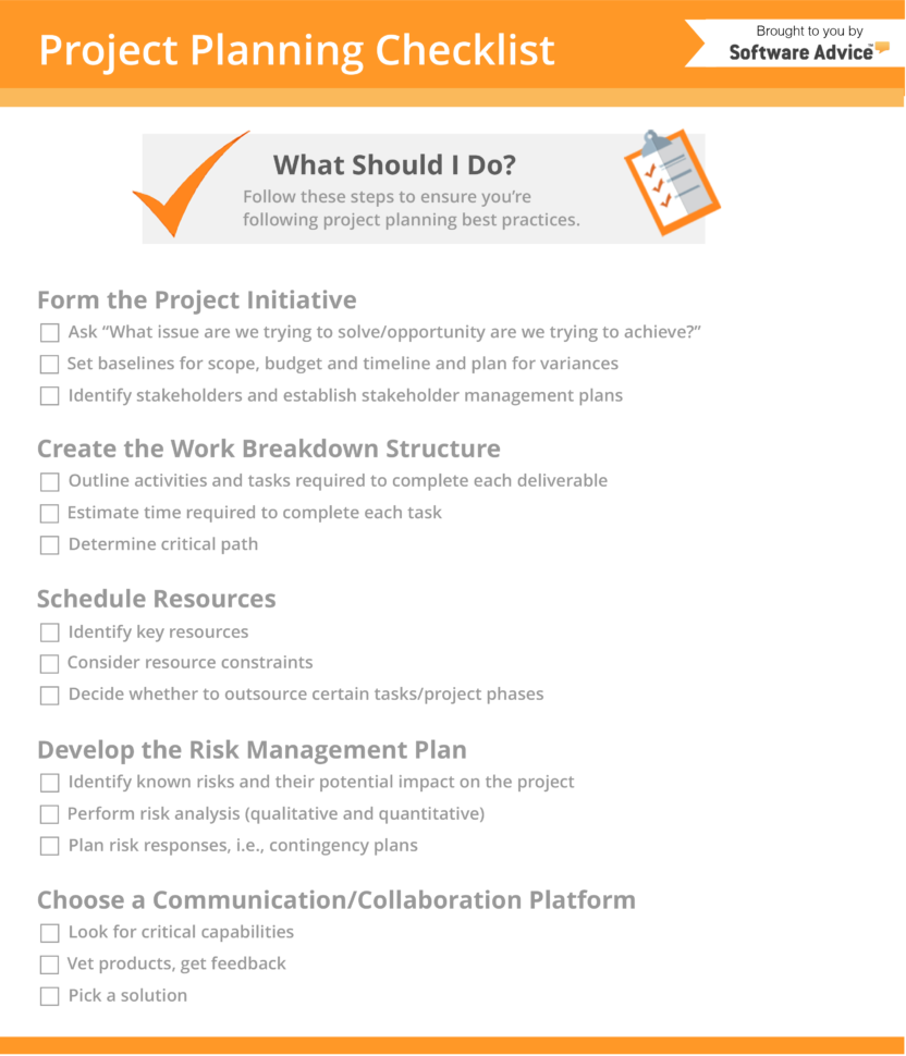 Project Planning Checklist: 5 Steps Every Pm Should Take In Project Management Forms Free Download