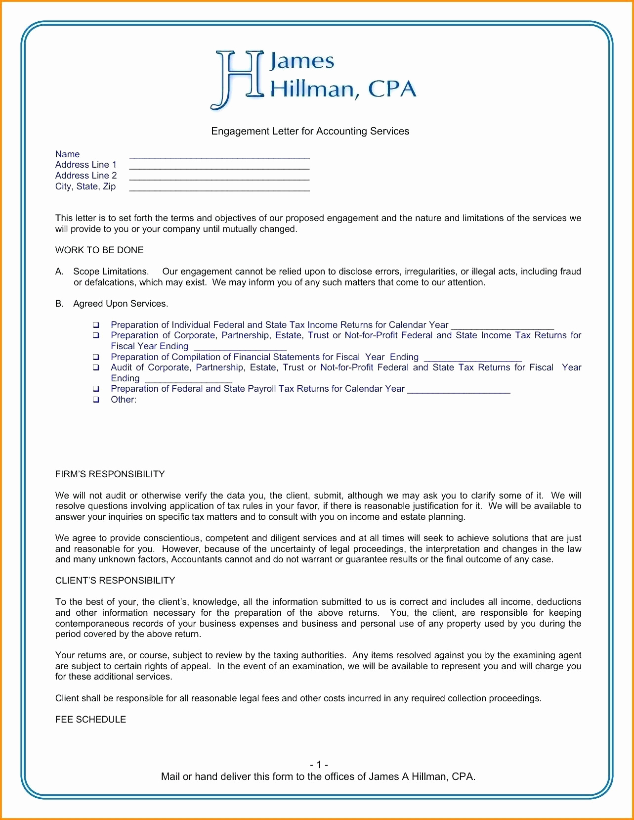 Proposal For Bookkeeping Services Template   Zoro.9Terrains.co With Bookkeeping Engagement Letter Example