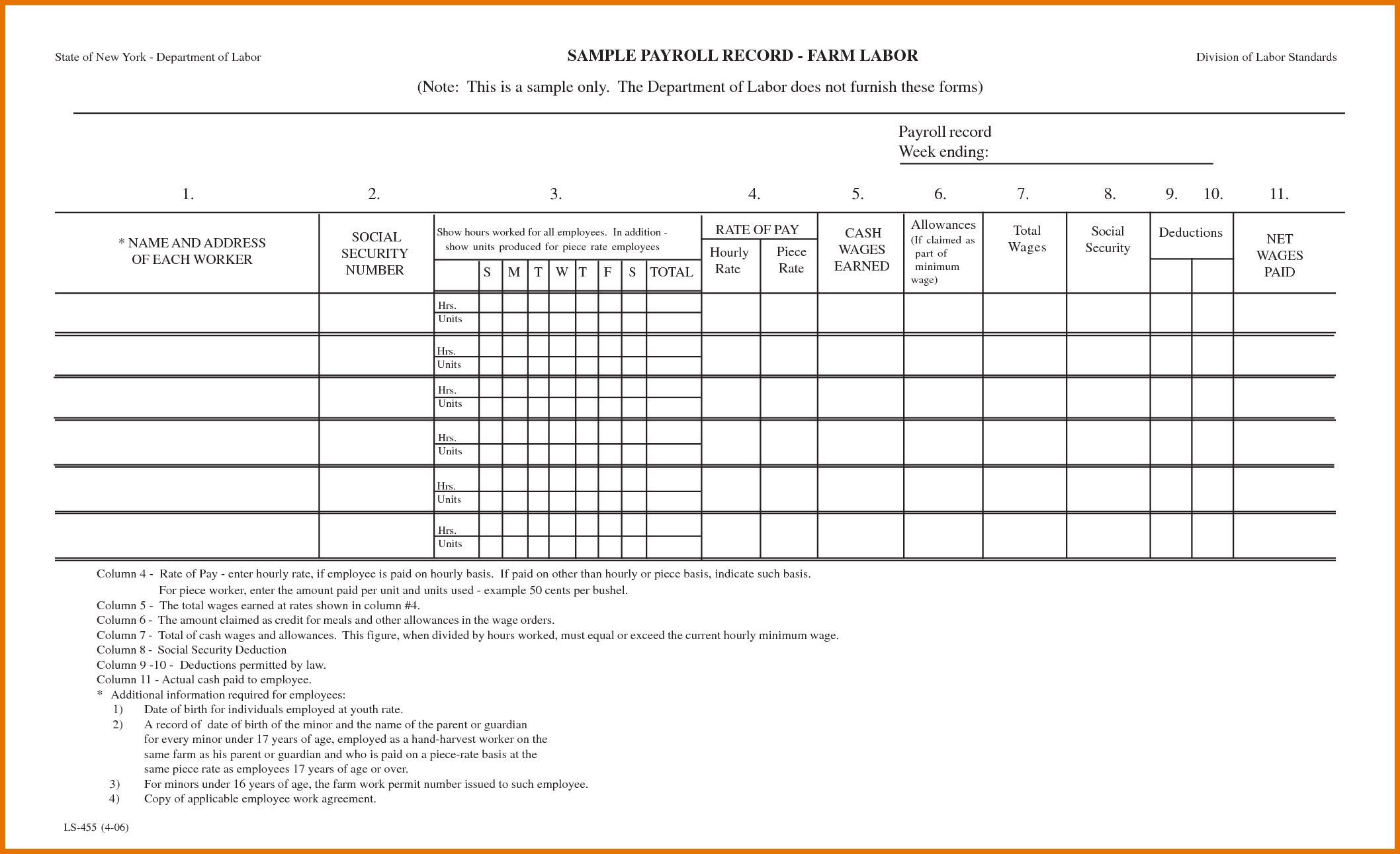 Quickbooks Payrolls: Free Printable Payroll Forms To Free Payroll Sheet Template