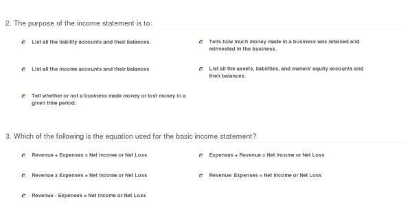 Quiz & Worksheet   Purpose Of An Income Statement | Study Within Income Statement Worksheet